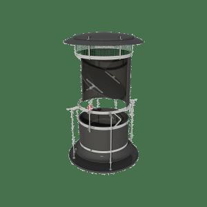 TPI ARC-D - Automatic Recirculation Chimney in Black