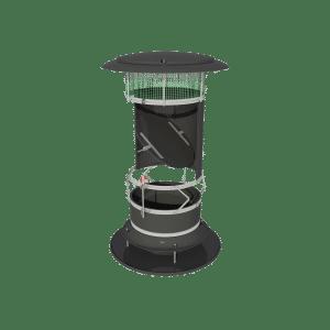 TPI ARC-F Black - Automatic Recirculation Chimney Fixed in Black
