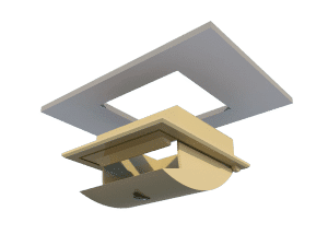 TPI Ceiling Inlet 160-P-C - Mounting in Ceiling
