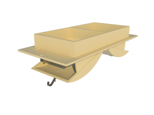 Ventilation for poultry and pig housing - ceiling inlet 160-PD-C main view - TPI-Polytechniek