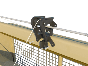 Ventilation pig and poultry house side wall inlet 3000-VFG-C pulley unit - TPI-Polytechniek
