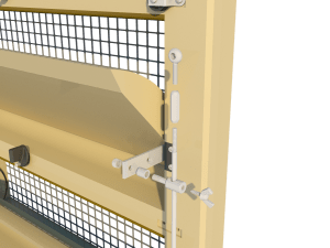 Ventilation pig and poultry house triple side wall inlet 145-VFRT side arm - TPI-Polytechniek
