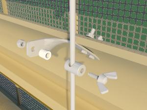 Ventilation - poultry house tunnel inlet 6000-VFG-3-C side arm control - TPI-Polytechniek