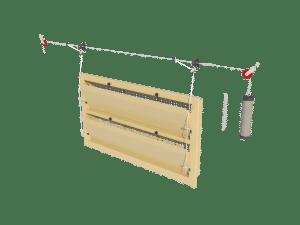 Ventilation - poultry house tunnel inlet 6000-VFR-2 assembly - TPI-Polytechniek
