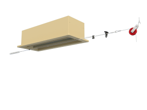 Ventilation for poultry and pig housing - ceiling inlet 220-P assembly - TPI-Polytechniek