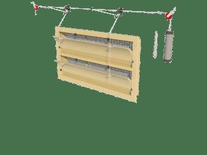 Ventilation - poultry house tunnel inlet 6000-VFG-2-C assembly - TPI-Polytechniek