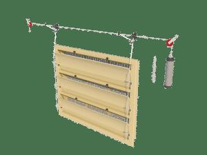 Ventilation - poultry house tunnel inlet 6000-VFG-3 assembly - TPI-Polytechniek