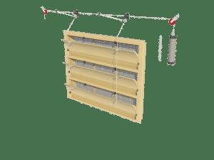 Ventilation - poultry house tunnel inlet 6000-VFG-3-C assembly - TPI-Polytechniek
