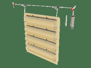 Ventilation - poultry house tunnel inlet 6000-VFG-4 assembly - TPI-Polytechniek