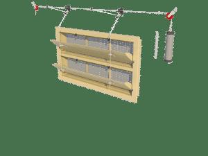 Ventilation - poultry house tunnel inlet 6000-VFR-2-C assembly - TPI-Polytechniek