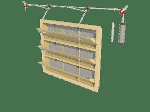 Ventilation - poultry house tunnel inlet 6000-VFR-3-C assembly - TPI-Polytechniek