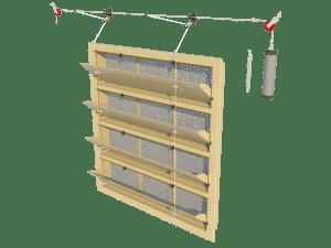 Ventilation - poultry house tunnel inlet 6000-VFG-4-C assembly - TPI-Polytechniek
