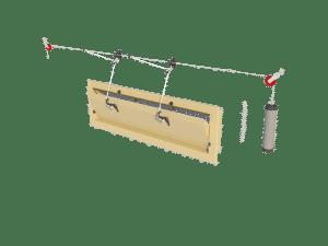 Ventilation - poultry house tunnel inlet 6000-VFR-C assembly - TPI-Polytechniek