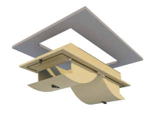 Ventilation for poultry and pig housing - ceiling inlet 160-PD-C mounting - TPI-Polytechniek