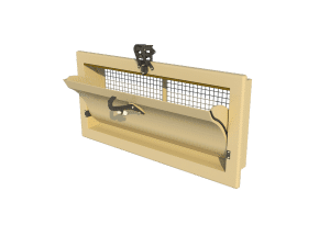 Ventilation pig and poultry house side wall inlet 3000-VFG-C main view - TPI-Polytechniek