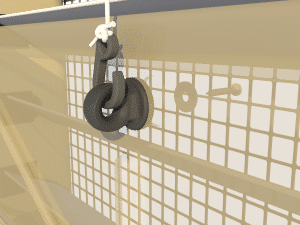 Ventilation pig and poultry house side wall inlet Omniflux hook - TPI-Polytechniek