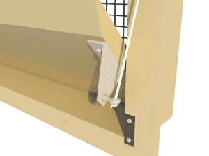 Ventilation pig and poultry house side wall inlet 135-VFR side arm - TPI-Polytechniek