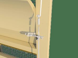Ventilation - poultry house tunnel inlet 6000-VFG-3 side arm control - TPI-Polytechniek