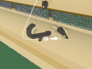 Ventilation - poultry house tunnel inlet 6000-VFG-C central arm - TPI-Polytechniek