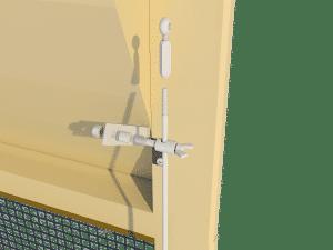 Ventilation - poultry house tunnel inlet 6000-VFR-3 side arm control - TPI-Polytechniek