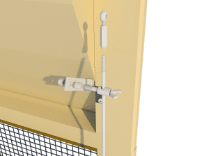 Ventilation - poultry house tunnel inlet 6000-VFR-4 side arm control - TPI-Polytechniek