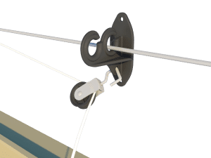 Ventilation - poultry house tunnel inlet 6000-VFG-C pulley and cable support - TPI-Polytechniek