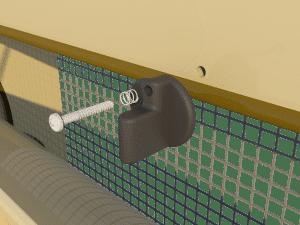 Ventilation - poultry house tunnel inlet 6000-VFR-2 closing catch - TPI-Polytechniek