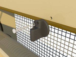 Ventilation - poultry house tunnel inlet 6000-VFR-3 closing catch - TPI-Polytechniek