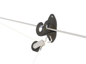 Ventilation - poultry house tunnel inlet 6000-VFR-3-C pulley and cable support - TPI-Polytechniek