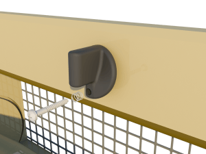 Ventilation pig and poultry house triple side wall inlet 145-VFRT closing catch - TPI-Polytechniek