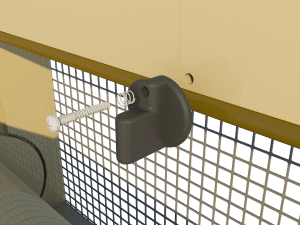Ventilation - poultry house tunnel inlet 6000-VFG-2-C closing catch- TPI-Polytechniek