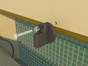 Ventilation - poultry house tunnel inlet 6000-VFG-3-C closing catch - TPI-Polytechniek