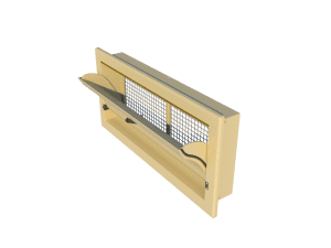 Ventilation pig and poultry house side wall inlet 3000-VFG-C side view - TPI-Polytechniek