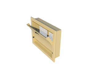Ventilation pig and poultry house side wall inlet 4000-VFG-C side view - TPI-Polytechniek