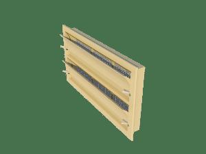 Ventilation - poultry house tunnel inlet 6000-VFG-2 side view - TPI-Polytechniek