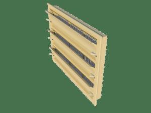 Ventilation - poultry house tunnel inlet 6000-VFG-3 side view - TPI-Polytechniek