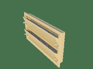 Ventilation - poultry house tunnel inlet 6000-VFR-2 side view - TPI-Polytechniek