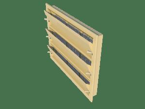 Ventilation - poultry house tunnel inlet 6000-VFR-3 side view - TPI-Polytechniek