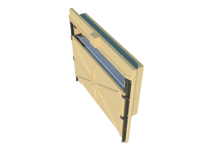 Ventilation pig and poultry house side wall inlet Omniflux side view - TPI-Polytechniek