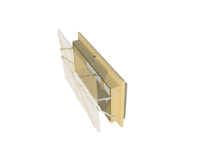 Ventilation pig and poultry house side wall inlet Omnistep side view - TPI-Polytechniek