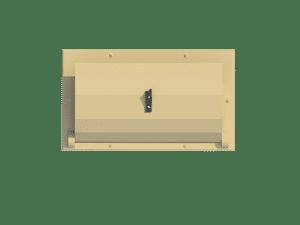 Ventilation for pig house ceiling inlet 120-P bottom view - TPI-Polytechniek