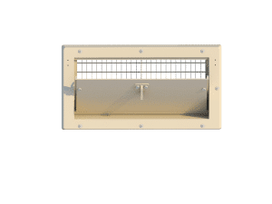 Ventilation pig and poultry house side wall inlet 2000-PBR-C front view - TPI-Polytechniek