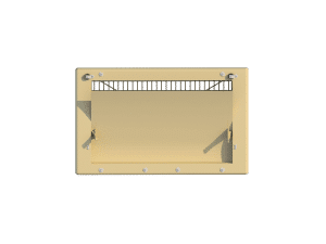 Ventilation pig and poultry house side wall inlet 2500-PVF front view - TPI-Polytechniek