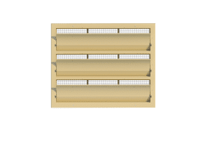 Ventilation - poultry house tunnel inlet 6000-VFG-3-C front view - TPI-Polytechniek