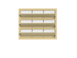 Ventilation - poultry house tunnel inlet 6000-VFR-3-C front view - TPI-Polytechniek