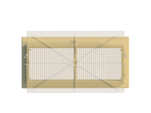 Ventilation pig and poultry house side wall inlet Omnistep front view - TPI-Polytechniek
