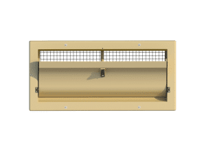 Ventilation pig and poultry house side wall inlet 3000-VFG-C front view - TPI-Polytechniek