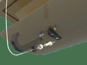 Ventilation for pig house ceiling inlet 160-P central arm - TPI-Polytechniek