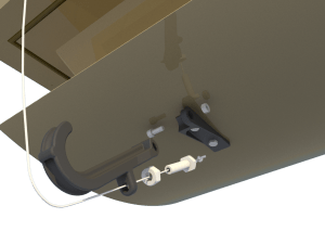 Ventilation for poultry and pig housing - ceiling inlet 160-P-C central arm - TPI-Polytechniek