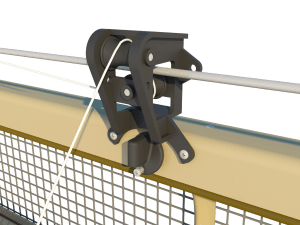 Ventilation pig and poultry house side wall inlet Ventum pulley unit - TPI-Polytechniek